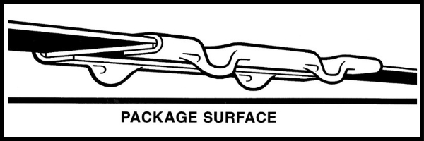 diagram of crimp strapping joint over strapping