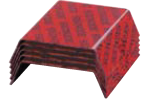 red nestack strapping seals in stack